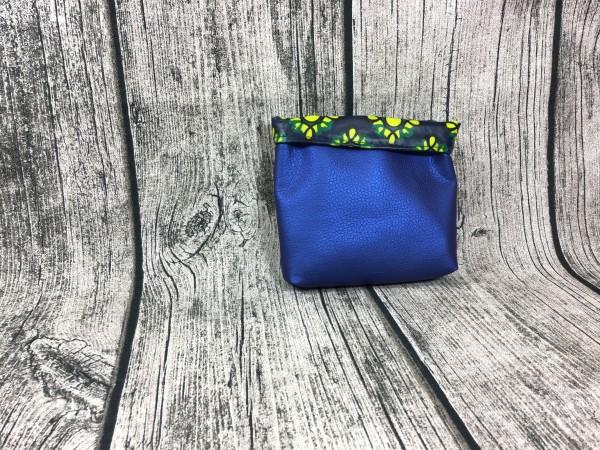 Mini Futterbeutel Kaylo blau metallic - Ornamente