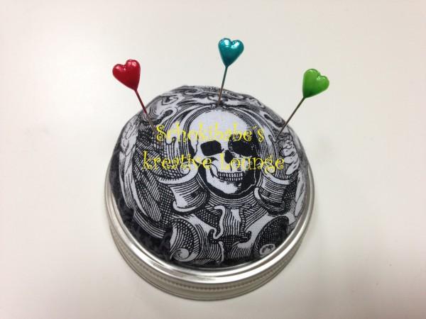 Nähglas gothische Skulls