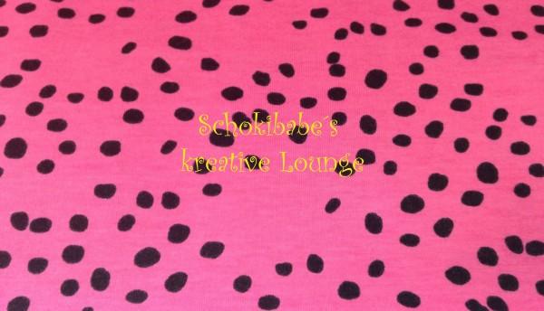 Stretchjersey Siiri Spotty Dots pink