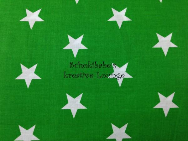 RESTSTÜCK 40 x 56 cm Baumwolle Big Stars grün