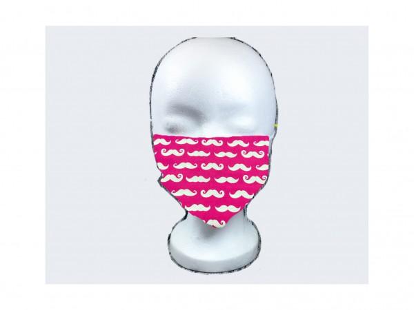 Gesichts Masken SCHURRBÄRTE PINK
