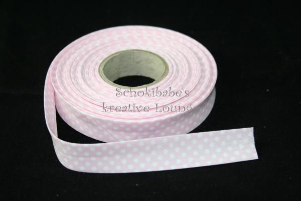 Schrägband Punkten rosa
