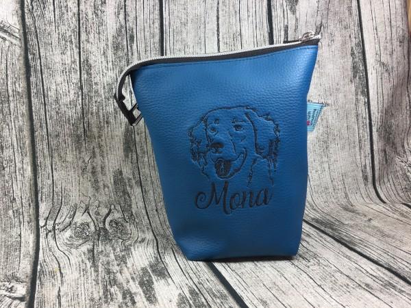 GassiTaschi Mona schwarz - blau Rechtsträger