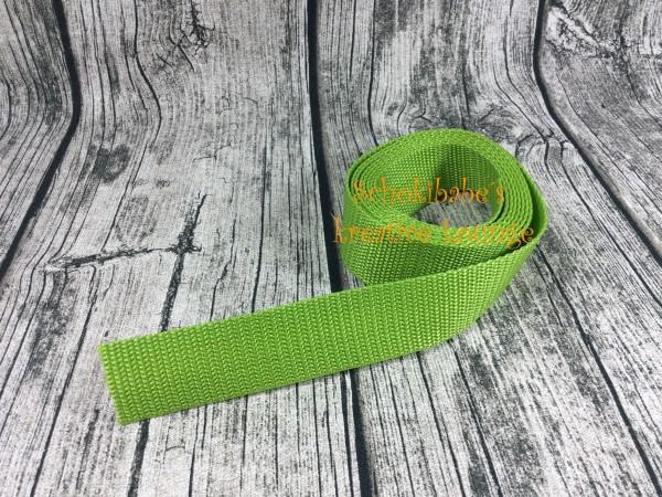 Gurtband uni hellgrün 25mm