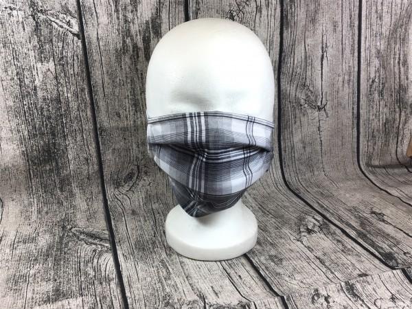 Gesichts Masken KAROS grau - schwarz
