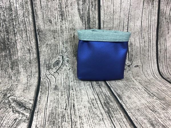 Mini Futterbeutel Kaylo blau metallic - mint meliert
