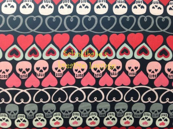 Baumwolle Love, Luck and Liberty Skulls USA