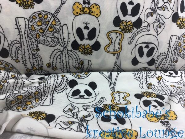 Stretchjersey Panda