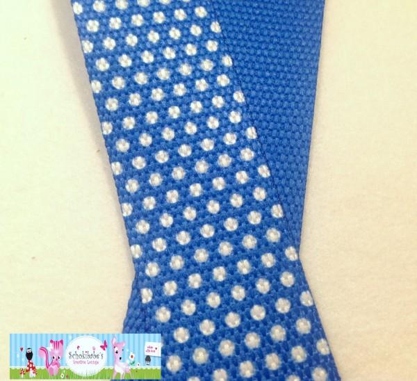 Gurtband Pünktchen blau 30mm