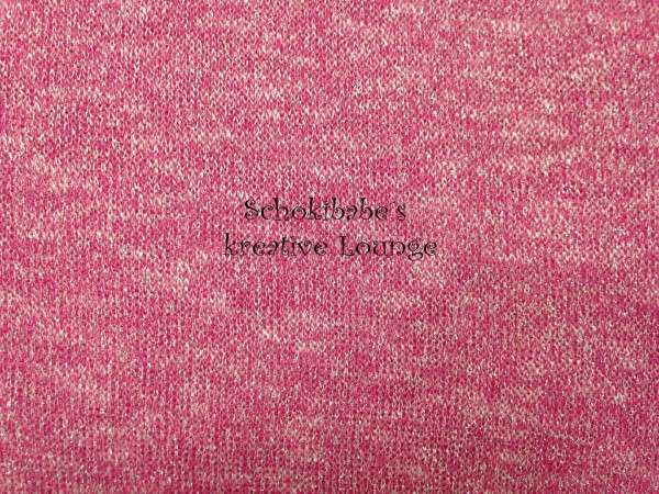 Strick-Stoff pink Glitzer