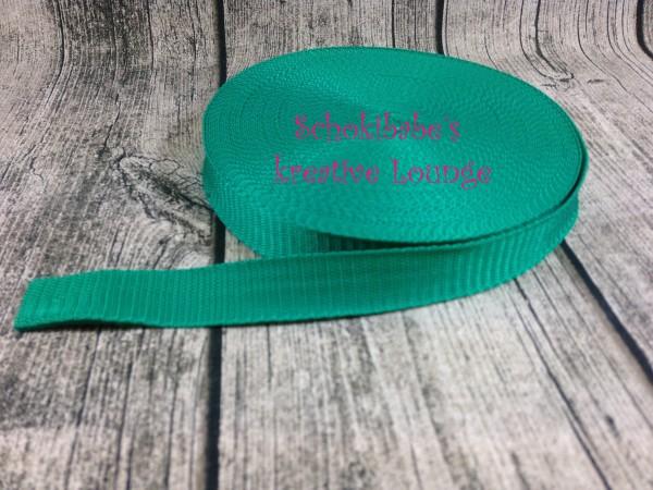 Gurtband uni grün 25mm