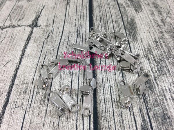 Zipper Silber Endlosreißverschluss schmal