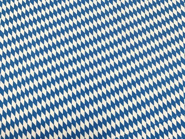 Baumwolle Raute blau - weiß klein