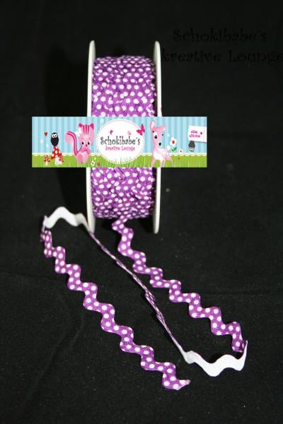 Zackenlitze mit Punkten lila