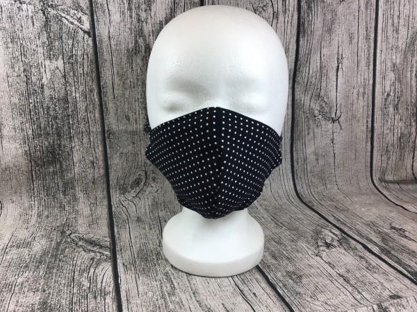 Gesichts Masken PUNKTE weiß - schwarz