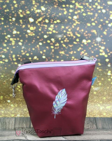 GassiTaschi PLUS Beere metallic 076 Feder Multicolor Rechtsträger