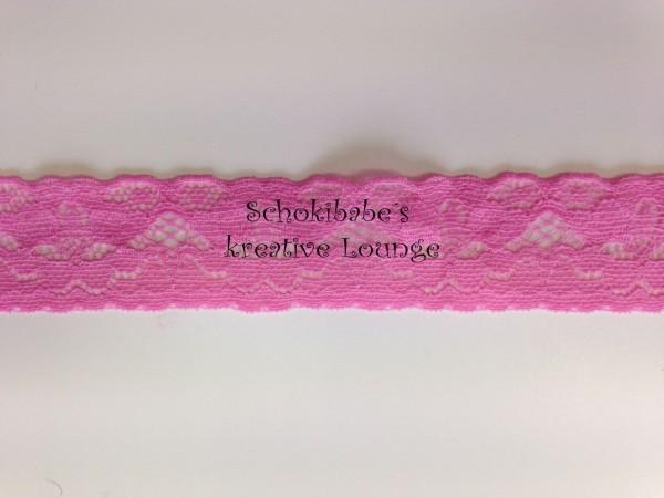elastische Spitze rosa