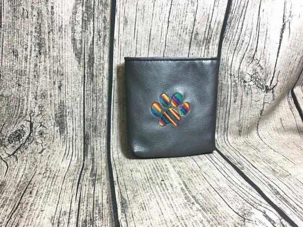 Mini Futterbeutel Kaylo anthrazit metallic - jeansblau