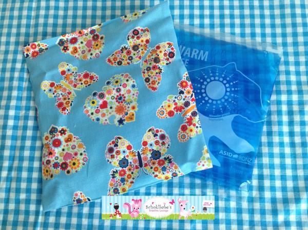 Wärmekissen/Kühlpack Hülle Blumen Schmetterlinge