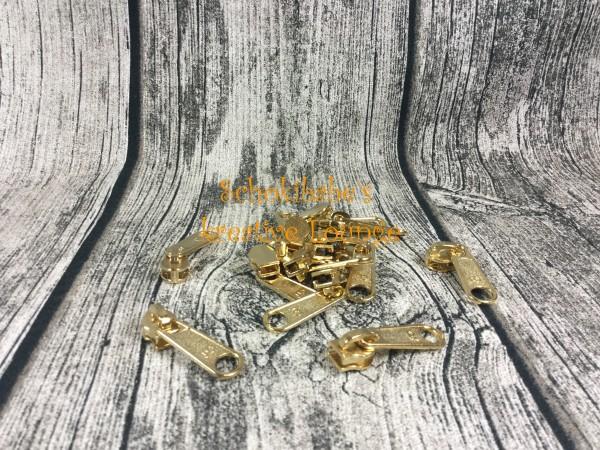 Zipper Endlosreißverschluss gold breit