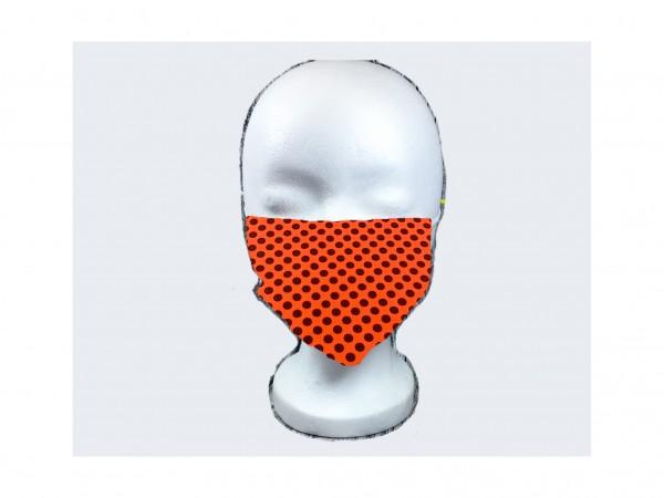 Gesichts Masken PUNKTE ORANGE