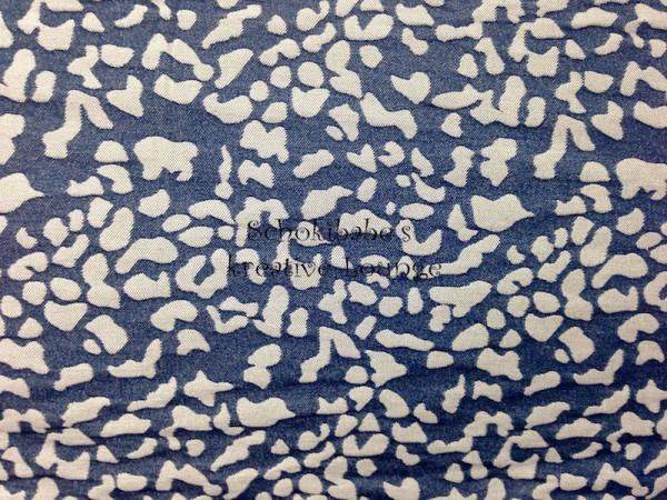 Jeans Steinchen jeansblau