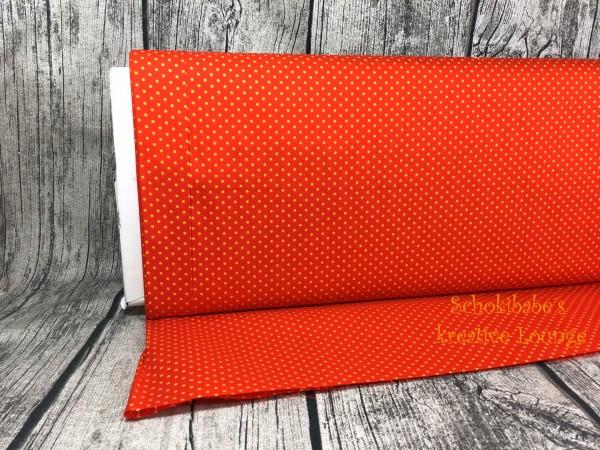 Baumwolle Punkte gelb-orange