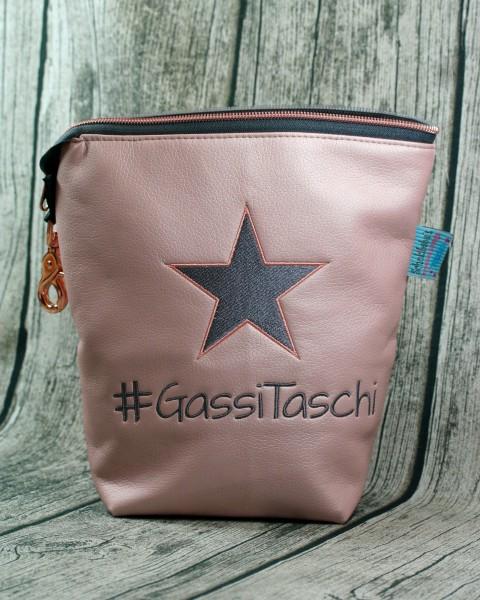 Gassi Taschi PLUS Stern rosa - grau