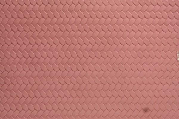 Kunstleder Zopfmuster uni rosa