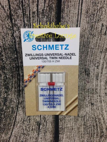 1er Twin 4mm Schmetz Universal Maschinennadeln