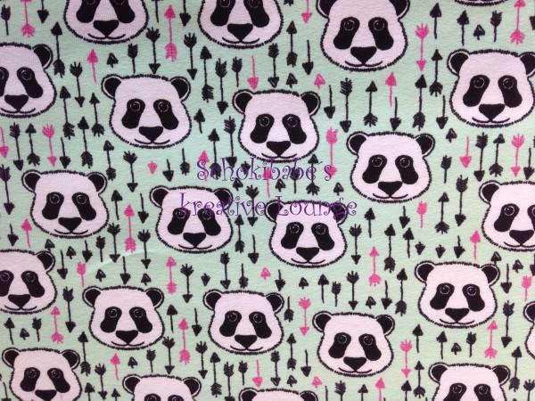 Sommersweat Panda mint