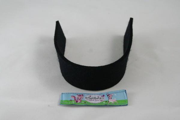 Wollfilz Streifen Zuschnitt schwarz