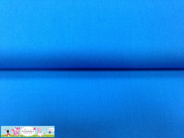 RESTSTÜCK 41 x 40 cm Baumwolle uni royalblau