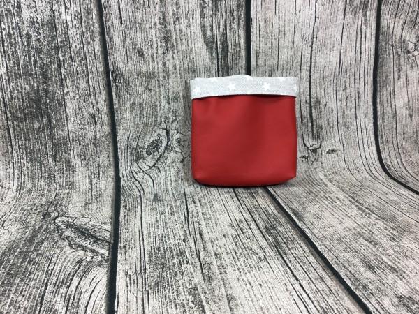 Mini Futterbeutel Kaylo rot - Sterne grau
