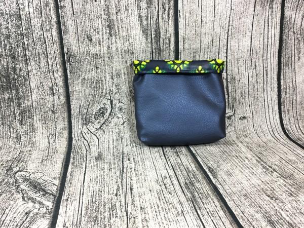 Mini Futterbeutel Kaylo jeansblau metallic - Ornamente