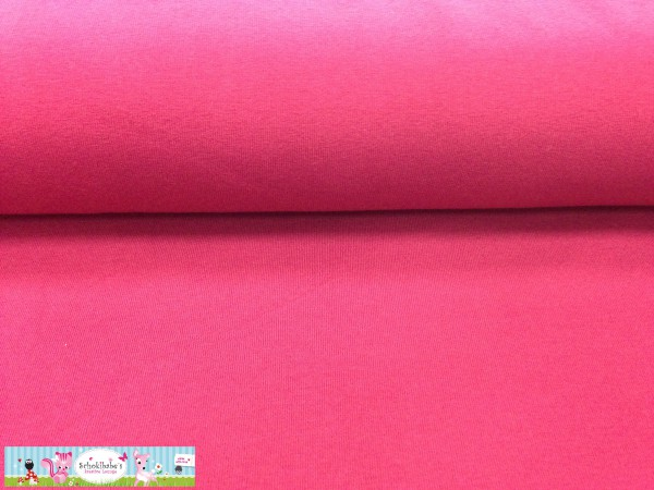 Sommersweat unifarben pink