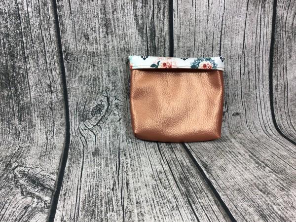 Mini Futterbeutel Kaylo kupfer metallic - Rosen