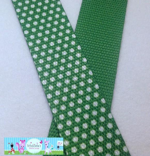 Gurtband Pünktchen grün 30mm