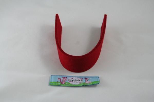 Wollfilz Streifen Zuschnitt rot