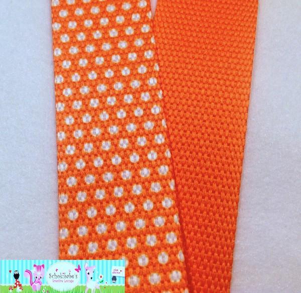 Gurtband Pünktchen orange 30mm