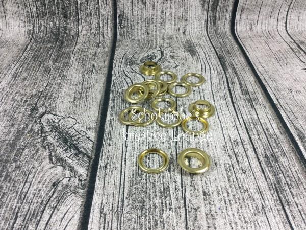 Ösen 12 mm gold