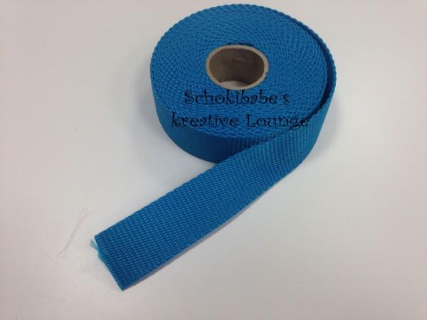 Gurtband uni türkis 30 mm