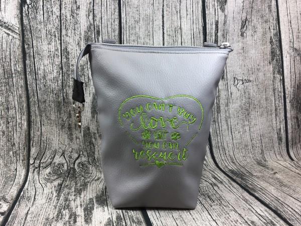 GassiTaschi Rescue Love grün - hellgrau
