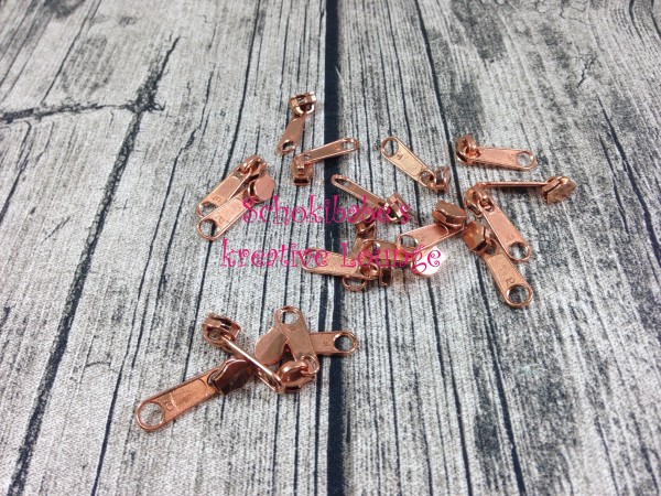 Zipper Kupfer Endlosreißverschluss schmal