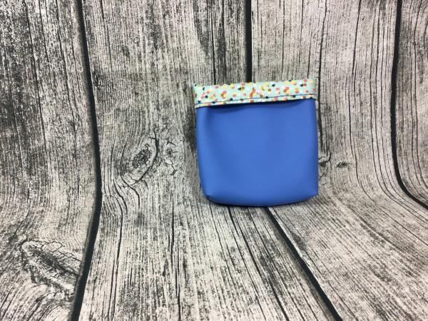 Mini Futterbeutel Kaylo kornblumenblau - Pünktchen bunt