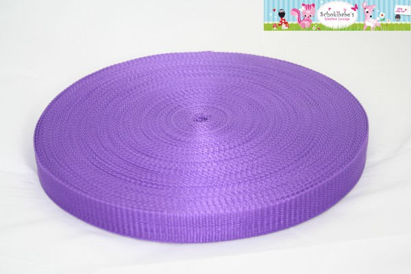 Gurtband uni lila 25mm
