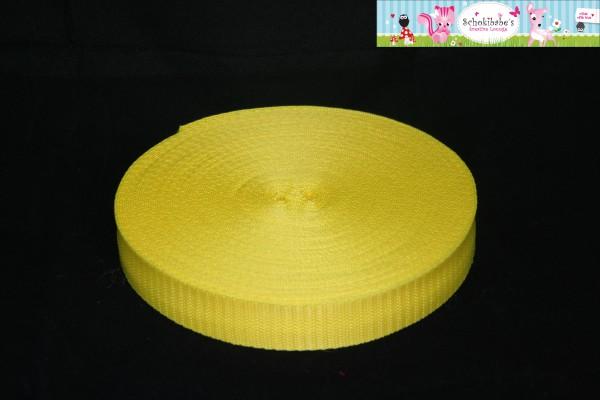 Gurtband uni gelb 30 mm