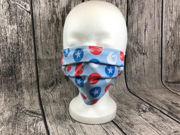 Gesichts Masken SKATEBOARD hellblau