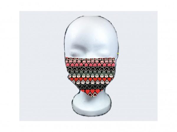 Gesichts Masken TOTENKÖPFE SCHWARZ