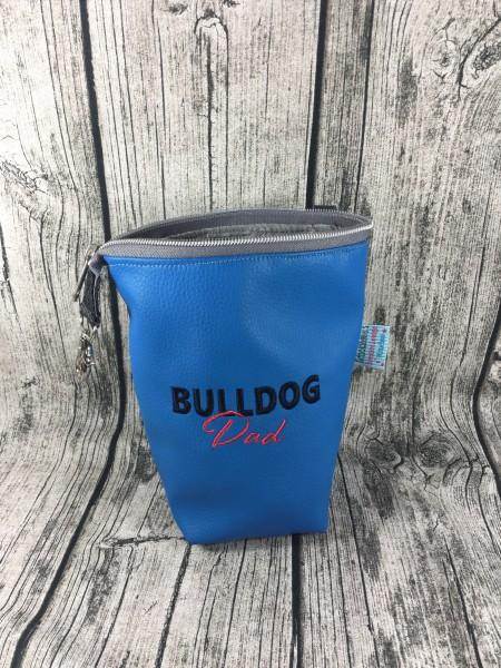 GassiTaschi Bulldog-Dad rot/schwarz - blau